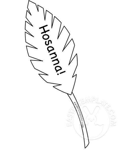palm leaf template printable hosanna palm leaf coloring page easter template