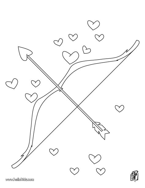 coloring page of bow and arrow love bow and arrow coloring pages hellokids com