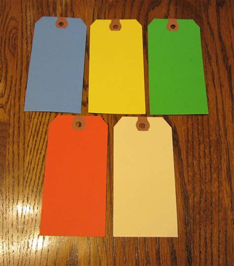 How To Make Paper Tags - 100 avery colored blank shipping hang tags scrapbook gift