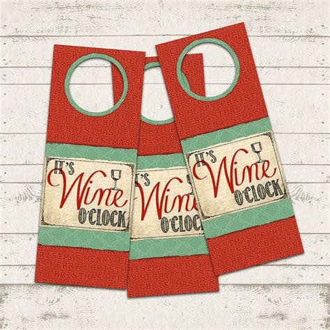 printable wine gift certificates christmas wine gift tags it s wine o clock instant