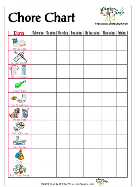printable toddler responsibility chart a chore chart for the little ones who can t read but can