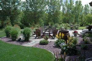 backyard pit area landscaping