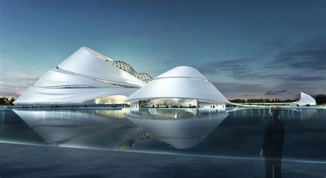 harbin opera house mad to build mountainous cultural island in china co design business design