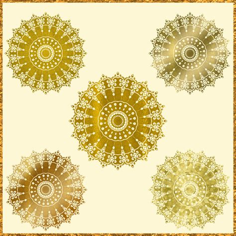 Mandala Gold 5 gold mandala clipart golden mandala clip metallic gold mandala mandala design free