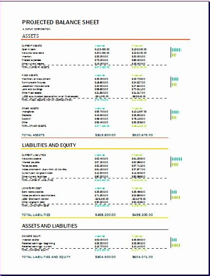 8 Proforma Balance Sheet Exceltemplates Exceltemplates Pro Forma Balance Sheet Template