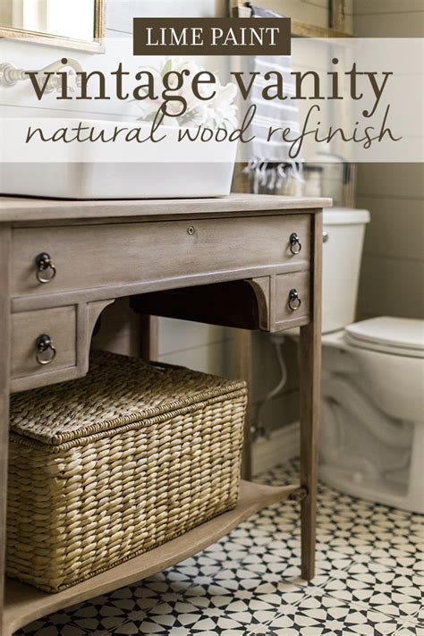 how to refinish bathroom vanity guest bathroom vanity refinish weathered wood lime