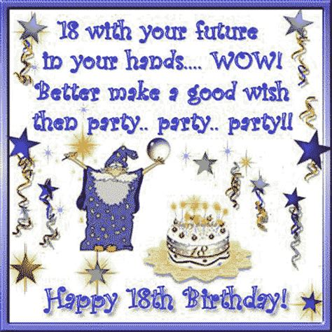 Happy 18th Birthday Wishes Quotes 18th Birthday Quotes And Sayings Happy Birthday Quotes