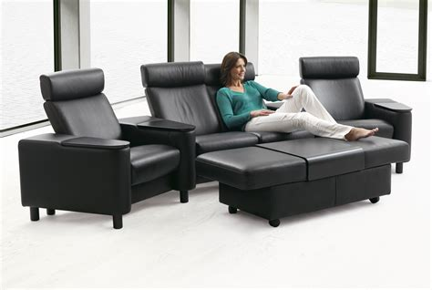 stressless sectional sofa stressless space home theater sofa sectional in paloma