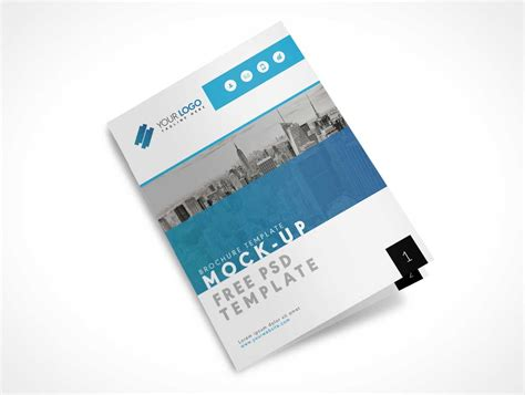 us letter size bi fold brochure cover psd mockup psd