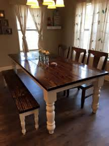 Traditional Kitchen Tables 8 Foot Baluster Table With A Traditional Vintage Kona Stained Top And Ivory Painted
