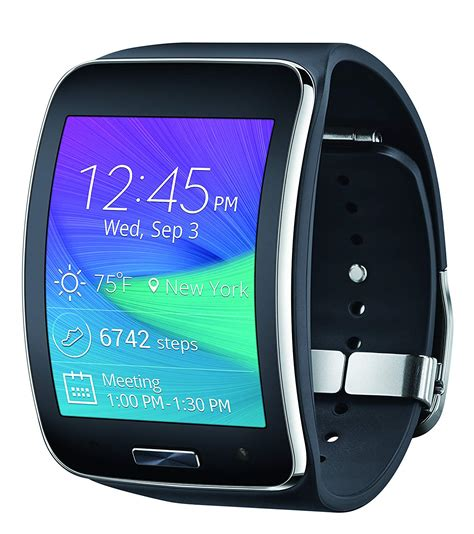samsung sm r750a galaxy gear s curved fit tracker wi fi smartwatch gsm at t ebay