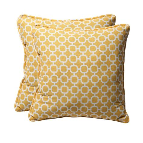 Outdoor Pillows Lowes by Shop Pillow Hockley 2 Pack Yellow Geometric Square