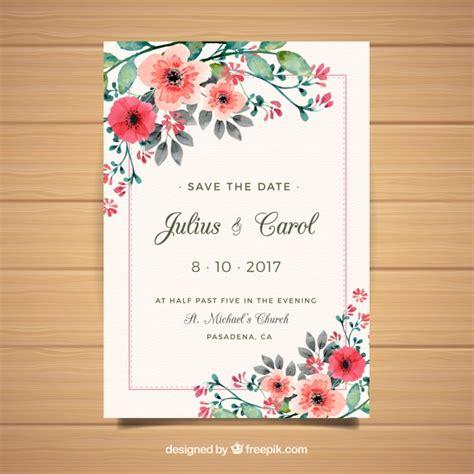 Floral Wedding Invitation Cards