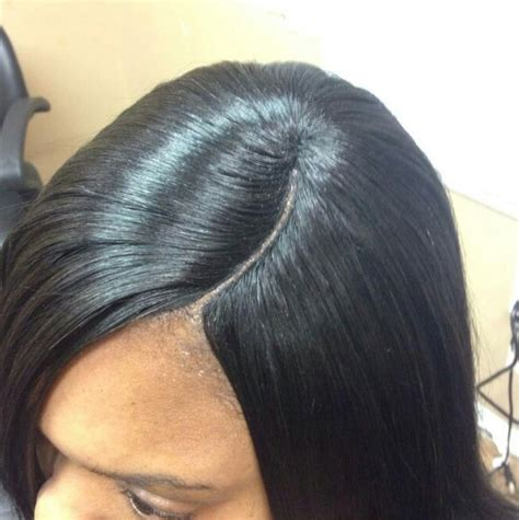 hair do with sew in weave with a part in the middle how to do invisible part sew in weave