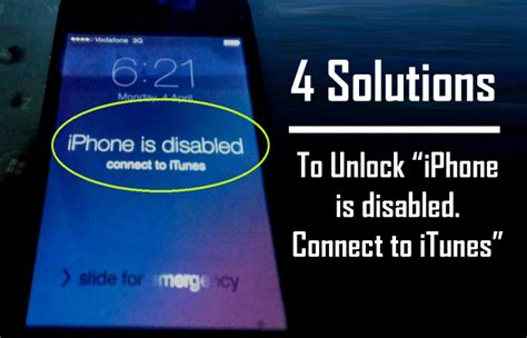 how to unlock iphone is disabled connect to itunes