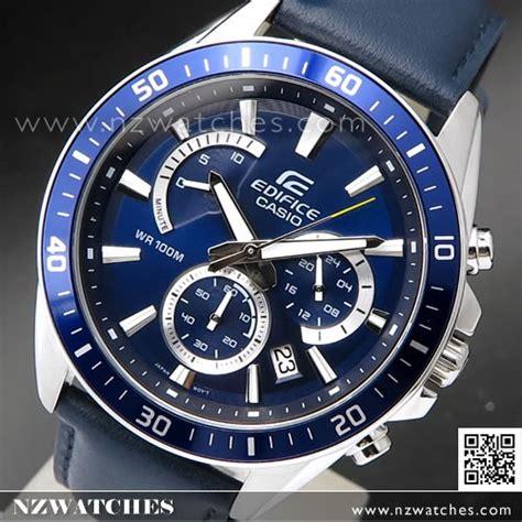 Efr 539bk 1a2v casio edifice blue genuine leather band efr 552l 2av efr552l nzwatches