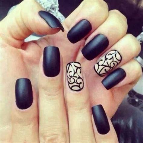 matte black nail designs nail black black nail jaybeesea