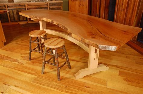 Woodworking Plans Kitchen Island by Handmade Sycamore Live Edge Slab Dining Table By Corey