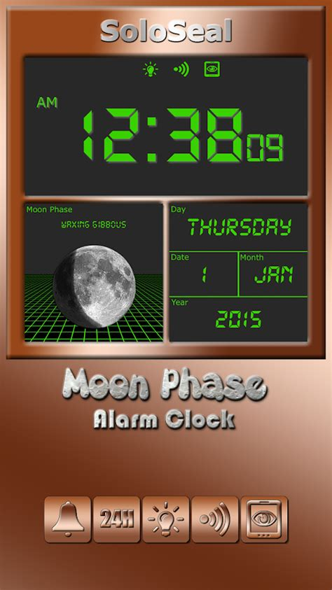 moon phase alarm clock android apps  google play