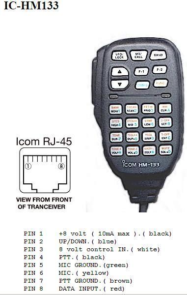Hm 133v microfono radio icom hm 133 electronica marina