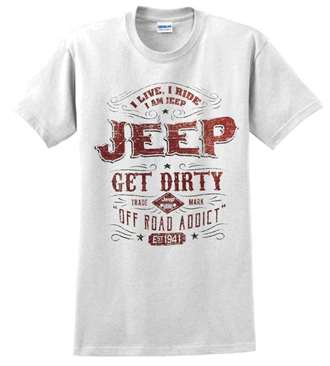 Kaos Tshirt Jeep Est 1941 All Things Jeep Jeep Trademark Label S T Shirt In White