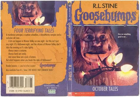 october a novel books the horrors of goosebumps horror book