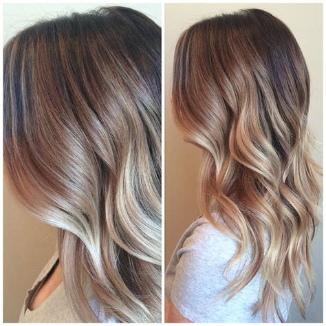 ombre honey highlights balayage highlights brown blonde melt waves ombr 233 beachy