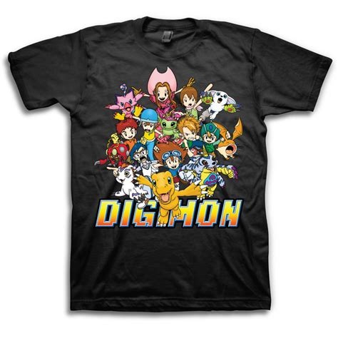 Digimon 3 T Shirt digimon sleeve t shirt