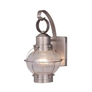nautical wall lighting fixtures shop cascadia lighting nautical 12 in h brushed nickel