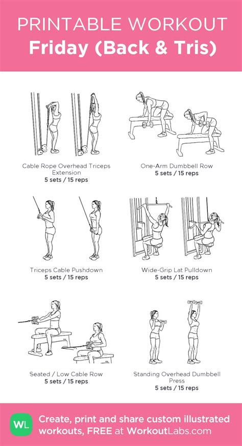 printable workout to customize and print ultimate at home 7 best images about upper on pinterest mondays upper