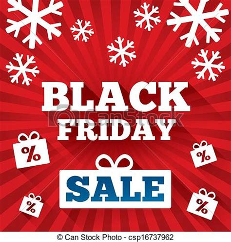 black friday xmas lites clip vector of black friday sale background background with flat csp16737962