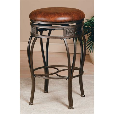 hillsdale montello backless bar stools hillsdale montello 26 in backless swivel counter stool