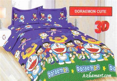 Sprei Katun Motif Doraemon sprei katun jepang jual bedcover dan sprei