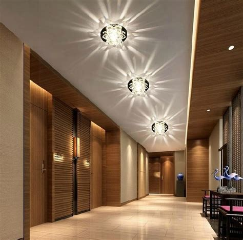 modern home lighting 3w crystal light ceiling l bedroom restaurant aisle