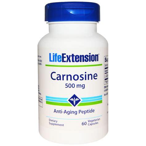 extension carnosine 500 mg 60 veggie caps iherb