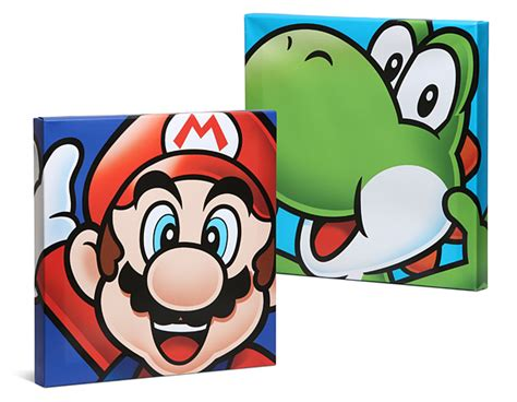 painting mario mario brothers canvas