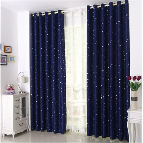 blue modern curtains curtain for 100 blackout cortinas para sala for living