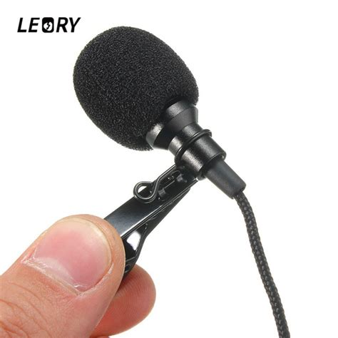 Microphone 3 5 Mm Stereo With Tie Clip For Laptop Gps Mic aliexpress buy leory mini 3 5mm microphone