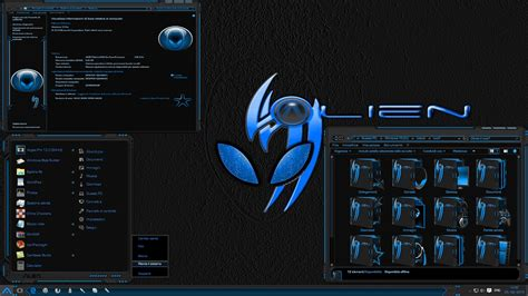 themes windows 10 skin theme w10 alien return azure no november update by alien