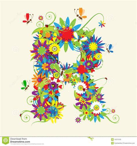 åt Et î R Letter R Floral Design Stock Vector Illustration Of