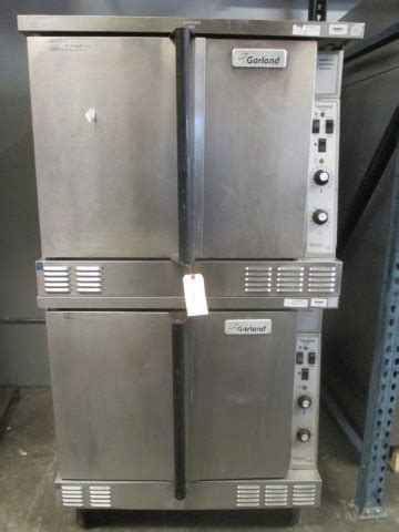garland double stack gas heated convection oven propane cng  master