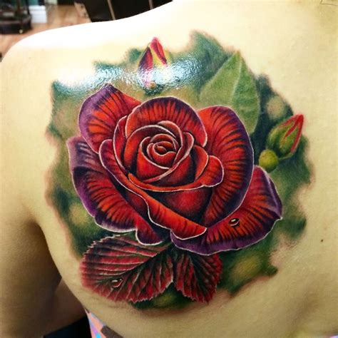 red roses tattoo lizvenom beautiful classic by liz venom from