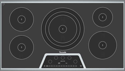 36 Inch Induction Cooktops cit365gb masterpiece 36 induction cooktop black with stainless steel frame