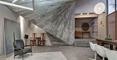 glamorous interior designs  concrete walls