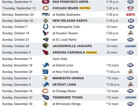 green bay packers 2013 schedule packers home and away espn