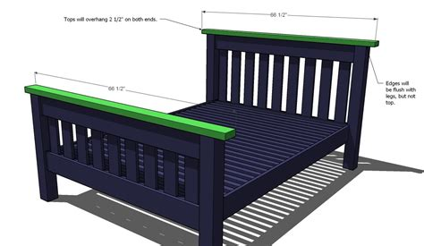 measurement of full size bed ana white simple bed full size diy projects
