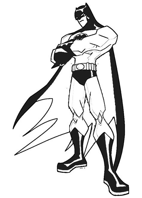free coloring pages of batman
