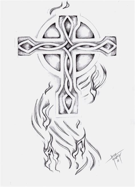 celtic cross with roses tattoo designs cross tattoos page 17