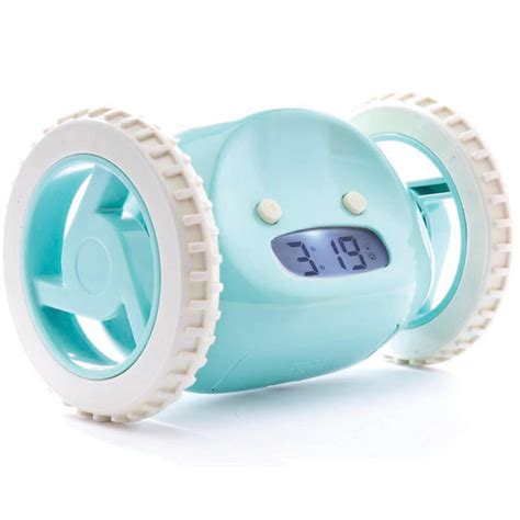 clocky rolling alarm clock in aqua by nanda home rosenberryrooms