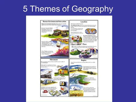 themes of geography list 5 themes of geography ppt video online download